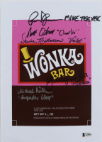 """""""Willy Wonka & The Chocolate Factory"""" 8.5x12 Print Cast-Signed by (5) Peter Ostrum, Michael Bollner, Julie Dawn Cole, Denise Nickerson & Paris Themmen with Multiple Inscriptions (Beckett LOA) at PristineAuction.com"""