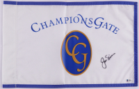 """Jack Nicklaus Signed """"Champions Gate"""" Pin Flag (Beckett LOA) at PristineAuction.com"""