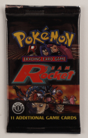 Pokemon First Edition Team Rocket Booster Pack with (11) Cards at PristineAuction.com