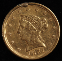 1851 $2.50 2 1/2 Dollar Liberty Head Gold Coin at PristineAuction.com