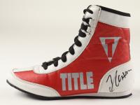 Julio Cesar Chavez Signed Title Boxing Shoe (PSA COA) at PristineAuction.com