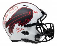 "Jim Kelly, Thurman Thomas, & Andre Reed Signed Bills Full-Size Lunar Eclipse Alternate Speed Helmet Inscribed ""Bills Dynasty"" (JSA COA) at PristineAuction.com"