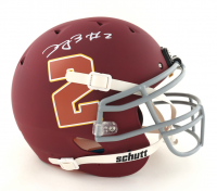 Dyami Brown Signed Full-Size Youth Authentic On-Field Matte Maroon Helmet (Beckett COA) at PristineAuction.com