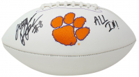 """Justyn Ross Signed Clemson Tigers Logo Football Inscribed """"All In!"""" (Beckett Hologram) at PristineAuction.com"""