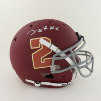 Dyami Brown Signed Full-Size Youth Authentic On-Field Matte Maroon Helmet (Beckett COA) (See Description) at PristineAuction.com