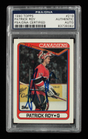 Patrick Roy Signed 1990-91 Topps #219 (PSA Authentic) at PristineAuction.com