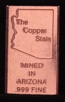 1/2 Pound .999 Fine Copper Bar Made with Arizona Mined Copper at PristineAuction.com