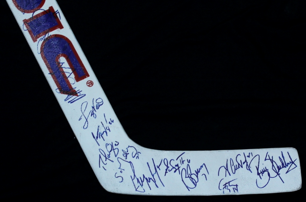 team york rangers autographed hockey sticks