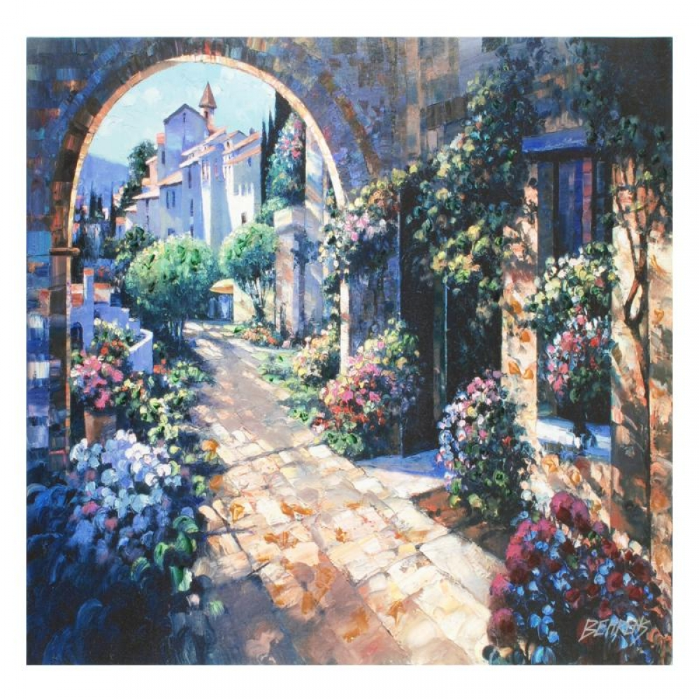 Howard behrens signed quot under the tuscan sun quot limited edition 32x24