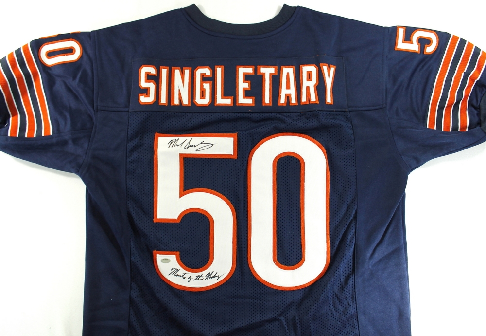 13d2727168a Mike Singletary Signed Bears Jersey Inscribed