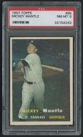 1957 Topps #95 Mickey Mantle (PSA 8) at PristineAuction.com