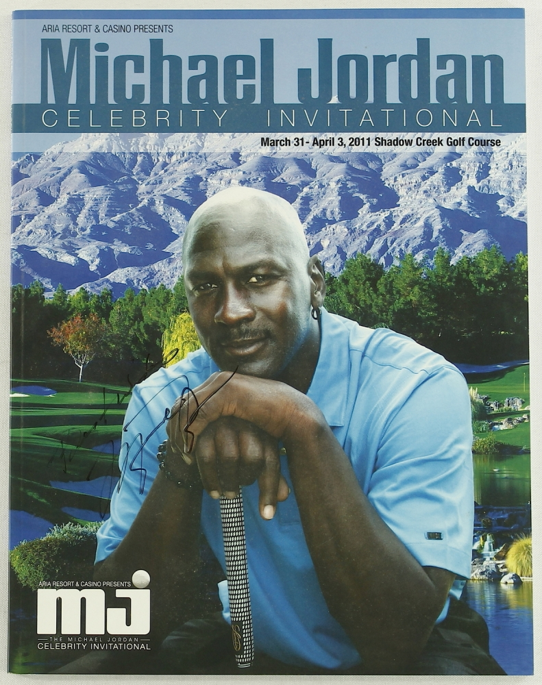 "Michael Jordan Signed 2011 Celebrity Invitational Golf Tournament Program  Inscribed ""Best Wishes"" (JSA ALOA)   Pristine Auction"