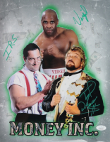 "Ted DiBiase, I.R.S. & Virgil Signed ""Money Inc."" 11x14 Photo (JSA COA) at PristineAuction.com"