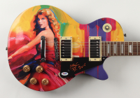 """Peter Max Signed Taylor Swift Art 39"""" Electric Guitar Inscribed """"2015"""" With Hand-Drawn Sketch (PSA Hologram) at PristineAuction.com"""