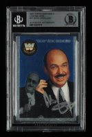 """""""Mean"""" Gene Okerlund Signed 2007 Topps Heritage II Chrome WWE #70 L (BGS Encapsulated) at PristineAuction.com"""
