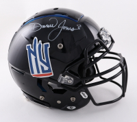 Daniel Jones Signed Full-Size Youth Authentic On-Field F7 Helmet (Beckett Hologram) (See Description) at PristineAuction.com