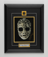 Gerry Cheevers Signed Bruins 15.5x19.5 Custom Framed Photo Display (COJO COA) at PristineAuction.com