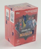2020-21 Topps UEFA Champions League Merlin Blaster Box with (7) Packs at PristineAuction.com