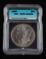 1886 Morgan Silver Dollar (ICG AU55) Scratched, Damaged at PristineAuction.com