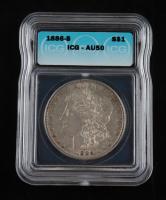 1886-S Morgan Silver Dollar (ICG AU50) at PristineAuction.com
