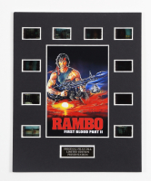 """""""Rambo: First Blood Part II"""" 8x10 Custom Matted Original Film Cell Display at PristineAuction.com"""