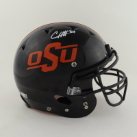 Chuba Hubbard Signed Oklahoma State Cowboys Full-Size Youth Authentic On-Field Helmet (Beckett COA) (See Description) at PristineAuction.com