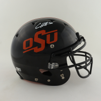 Chuba Hubbard Signed Oklahoma State Cowboys Full-Size Youth Authentic On-Field Helmet (Beckett Hologram) (See Description) at PristineAuction.com