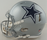 """Michael Irvin Signed Cowboys Full-Size Authentic On-Field Speed Helmet Inscribed """"HOF 2007"""" (Beckett Hologram) (See Description) at PristineAuction.com"""