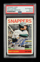 Matt Olson Signed 2013 Topps Heritage Minors #92 (PSA Encapsulated) at PristineAuction.com