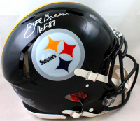 """Joe Greene Signed Steelers Full-Size Authentic On-Field Speed Helmet Inscribed """"HOF 87"""" (Beckett Hologram) at PristineAuction.com"""