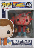 """Michael J. Fox Signed """"Back to the Future"""" #49 Marty McFly Funko Pop! Vinyl Figure (Beckett Hologram) at PristineAuction.com"""