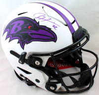 Ray Lewis Signed Ravens Full-Size Authentic On-Field Lunar Eclipse Alternate SpeedFlex Helmet (Beckett Hologram) at PristineAuction.com
