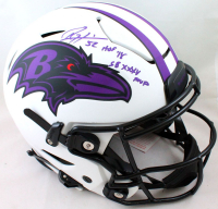 "Ray Lewis Signed Ravens Full-Size Authentic On-Field Lunar Eclipse Alternate SpeedFlex Helmet Inscribed ""HOF '18"" & ""SB XXXV MVP"" (Beckett Hologram) at PristineAuction.com"