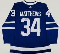 "Auston Matthews Signed Maple Leafs Jersey Inscribed ""2021 Rocket Richard"" (Fanatics Hologram) at PristineAuction.com"
