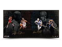 Michael Jordan & Wayne Gretzky Signed LE 18x36 Photo (UDA Hologram) at PristineAuction.com