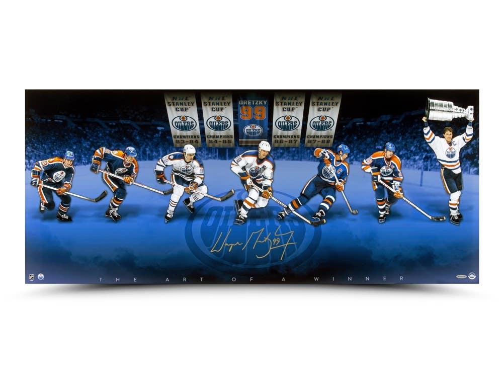 Wayne Gretzky Signed Oilers 18x42 Photo (UDA Hologram) at PristineAuction.com