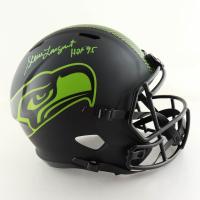 "Steve Largent Signed Seahawks Full-Size Eclipse Alternate Speed Helmet Inscribed ""HOF 95"" (JSA COA) at PristineAuction.com"