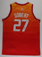"""Rudy Gobert Signed Jazz Jersey Inscribed """"3x"""" (JSA COA) at PristineAuction.com"""