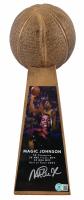 Magic Johnson Signed 15'' Gold Basketball Championship Trophy (Beckett Hologram) at PristineAuction.com