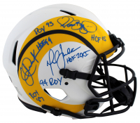 Jerome Bettis, Eric Dickerson & Marshall Faulk Signed Rams Full-Size Authentic On-Field Lunar Eclipse Alternate Speed Helmet with HOF & ROY Inscriptions (Beckett Hologram & Prova Hologram) at PristineAuction.com