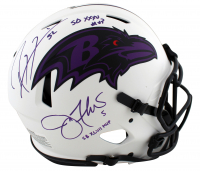 "Ray Lewis & Joe Flacco Signed Ravens Full-Size Authentic On-Field Lunar Eclipse Alternate Speed Helmet Inscribed ""SB XXXV MVP"" & ""XLVII MVP"" (Beckett Hologram & JSA COA) at PristineAuction.com"