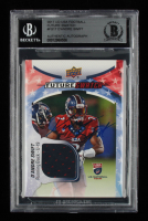 D'Andre Swift Signed 2017 Upper Deck USA Football Future Swatch #FS17 (BGS Encapsulated & JSA Hologram) at PristineAuction.com