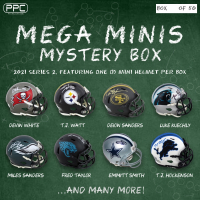 Press Pass Collectibles 2021 Mega Mini Helmet Mystery Box - Series 2 (Limited to 50) at PristineAuction.com
