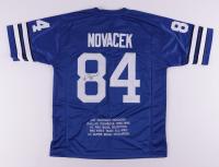 Jay Novacek Signed Career Highlight Stat Jersey (JSA COA) at PristineAuction.com