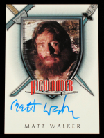 Matt Walker 2003 Complete Highlander The Series Autographs #A17 (JSA COA) at PristineAuction.com