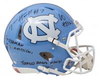 "Sam Howell Signed North Carolina Tar Heels Full-Size Authentic On-Field Speed Helmet Inscribed ""Freshman All American"" ""GO HEELS!"" & Tobacco Roads Finest"" (JSA COA) at PristineAuction.com"