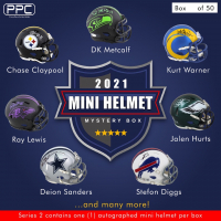 Press Pass Collectibles 2021 Mini Helmet Mystery Box – Series 2 (Limited to 50) at PristineAuction.com