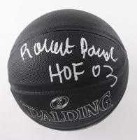 "Robert Parish Signed NBA Black Basketball Inscribed ""HOF 03"" (Schwartz Sports COA) at PristineAuction.com"