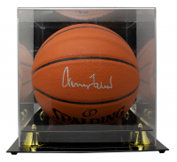 Jerry West Signed NBA Silver Series Basketball with Display Case (PSA COA) at PristineAuction.com