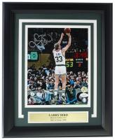 Larry Bird Signed Celtics 11x14 Custom Framed Photo Display (JSA COA & Bird Hologram) at PristineAuction.com